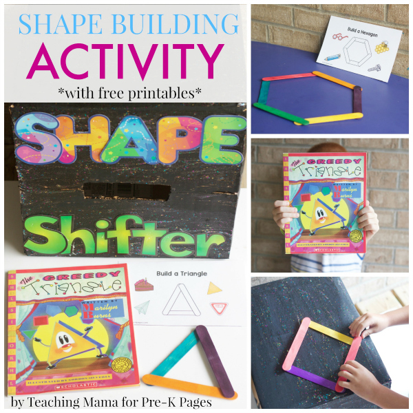 Shape Building Activity with craft sticks