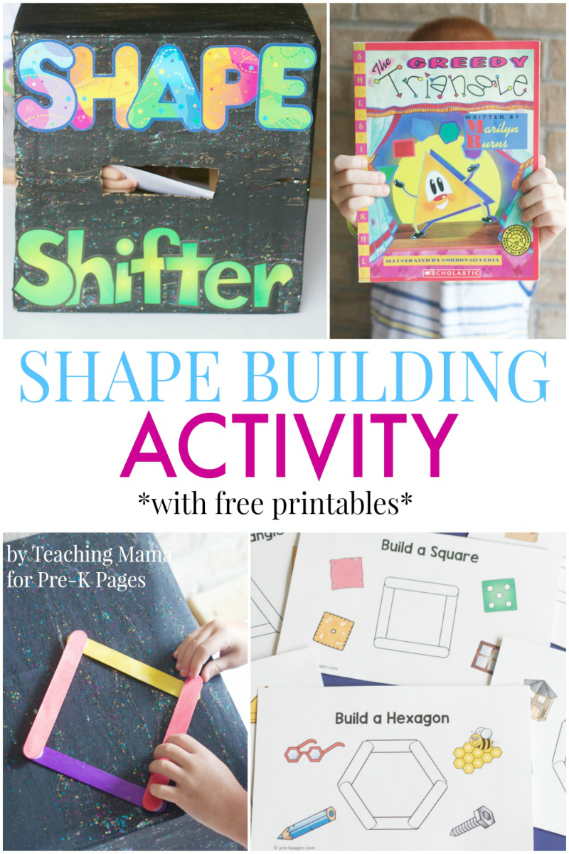 Shape Building Activity for preschool