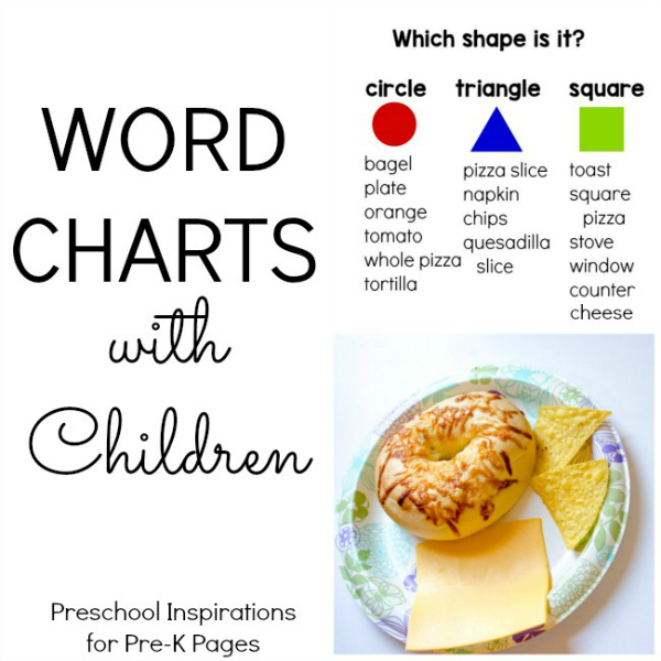 Word Charts with preschool