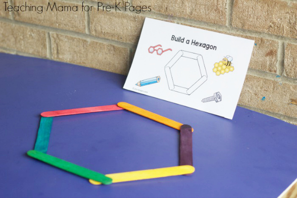 build shapes with Velcro sticks