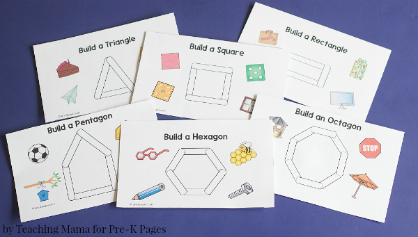 shape cards for shape building activity
