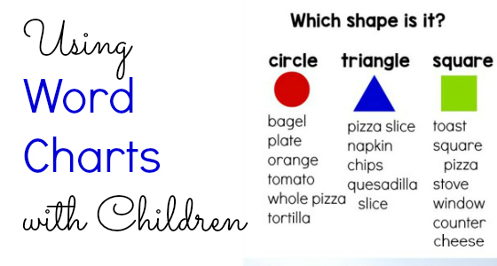 Pre-K Literacy: Using Word Charts with Children