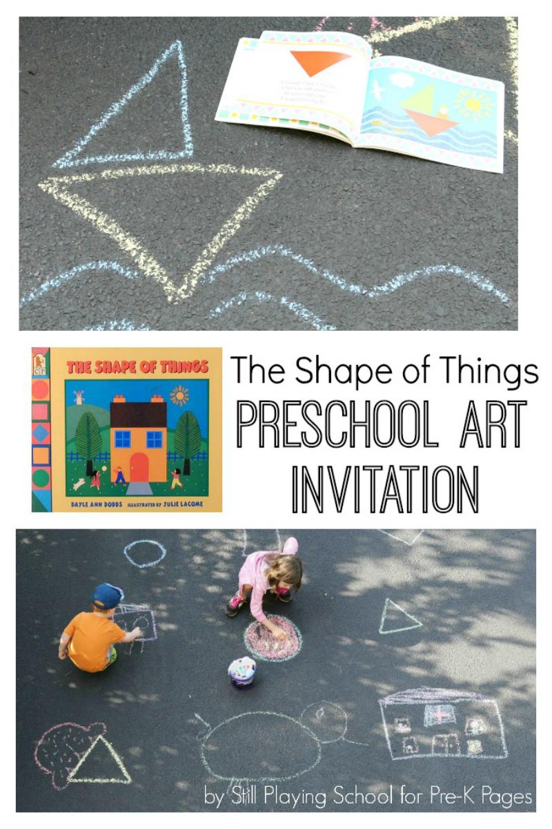 shapes art chalk for preschool
