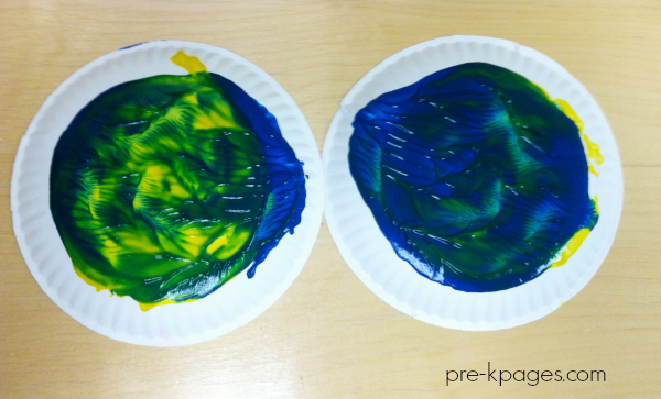 twist painting color mixing