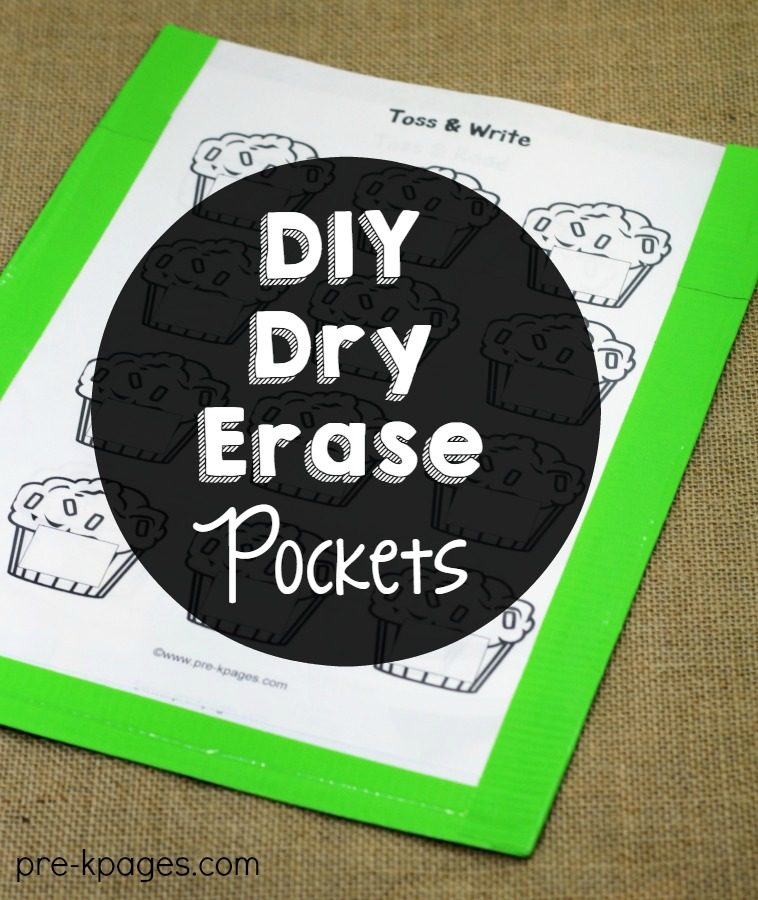 How to Make Dry Erase Pockets with Duct Tape