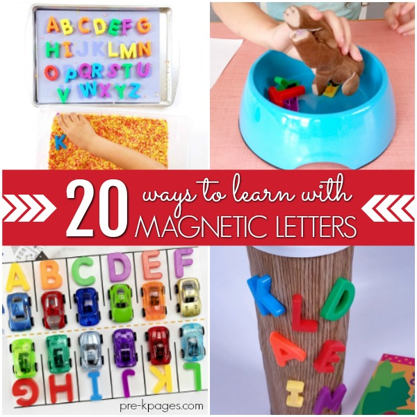 How to use magnetic letters to teach preschoolers