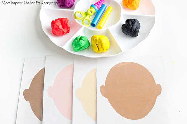 Faces Play Dough Mats