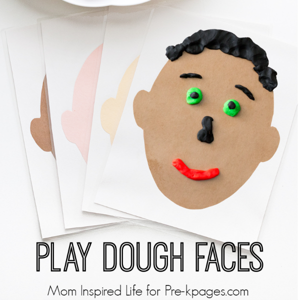 Play Dough Faces Activity