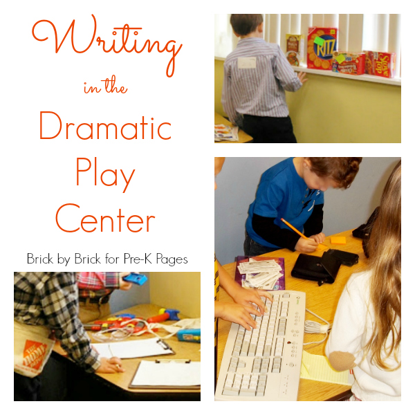 dramatic play center writing