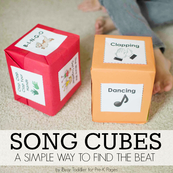 music prek song cubes