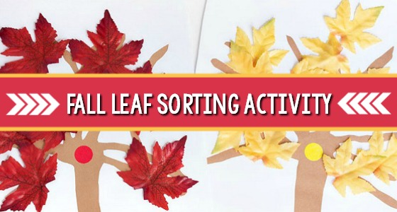 Red Leaf, Yellow Leaf Sorting Activity