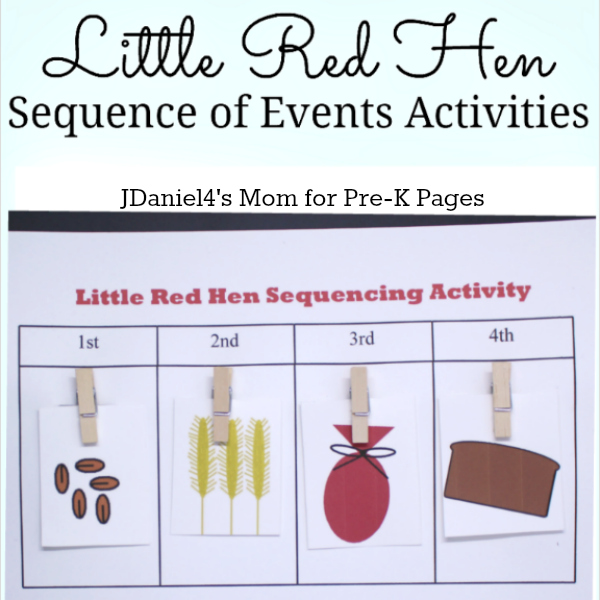 Little Red Hen Sequencing for preschool