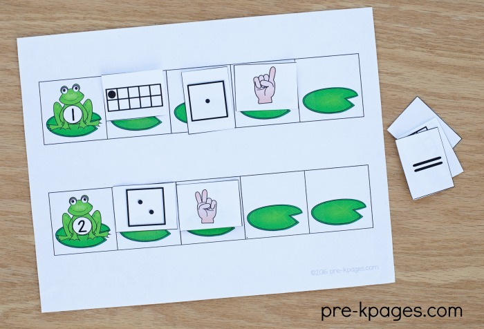 Printable Frog Theme Number Sense Activity