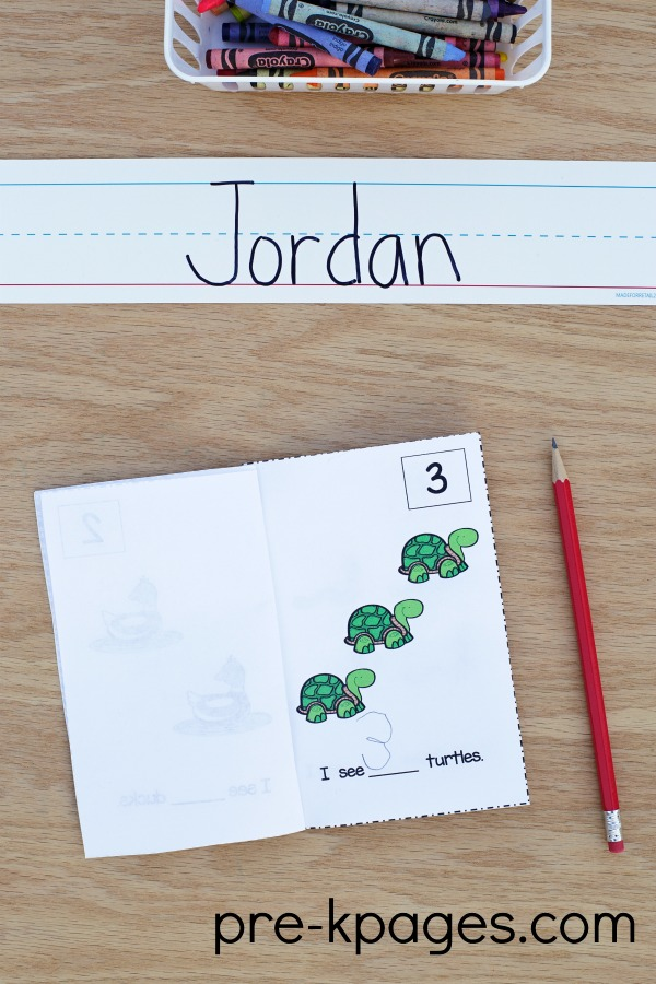 Printable Pond Theme Counting Book for Preschool