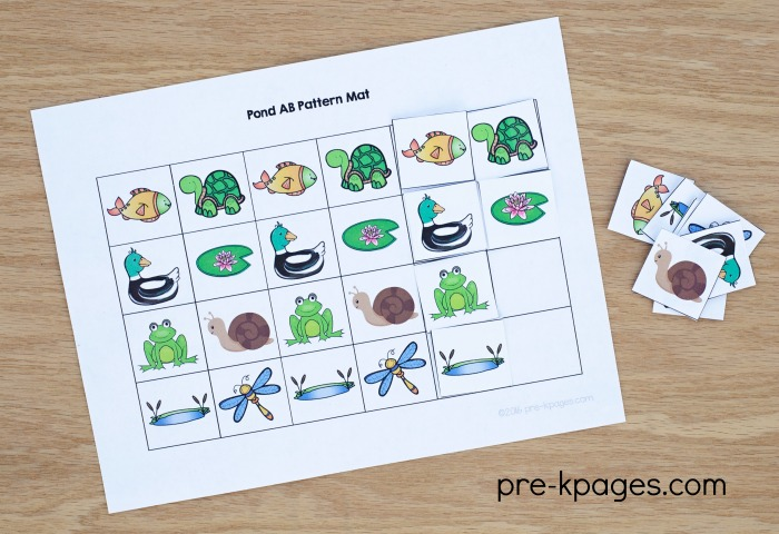 Printable Pond Theme Pattern Activity for Preschoolers