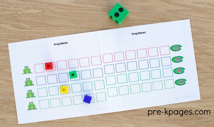 Printable Pond Theme Counting Game for Preschoolers