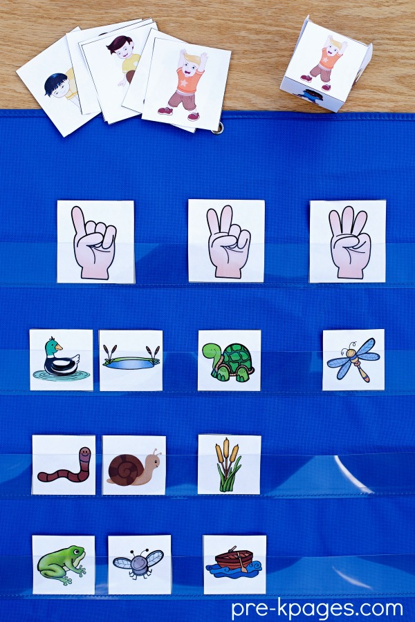 Printable Pond Theme Syllable Activity