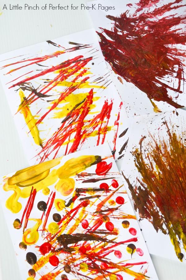 fall painting art little red hen