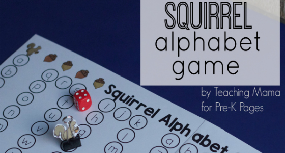 Squirrel Alphabet Game for Fall