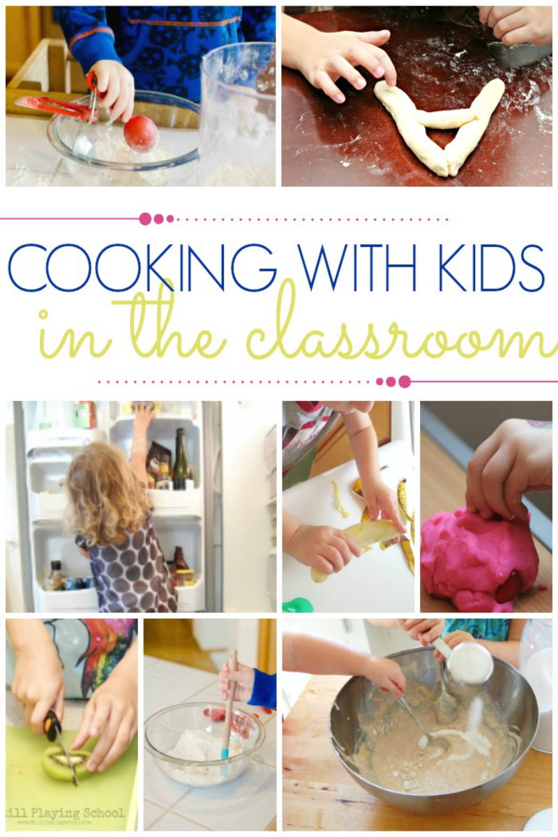 cooking with kids in classroom preschool