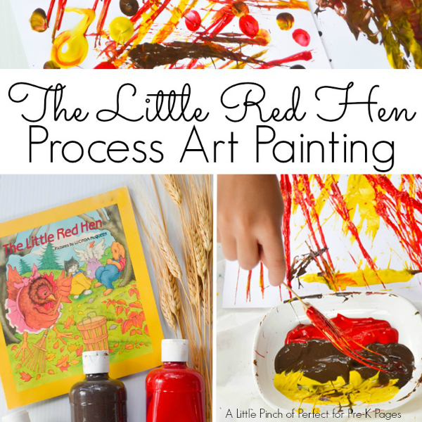 little red hen pre-k process art
