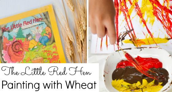 painting with wheat preschool