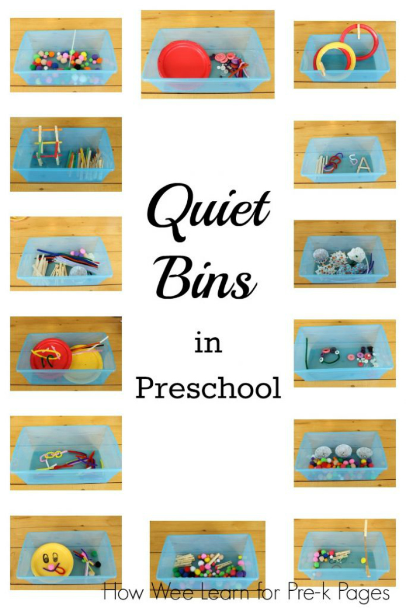 quiet bins in preschool