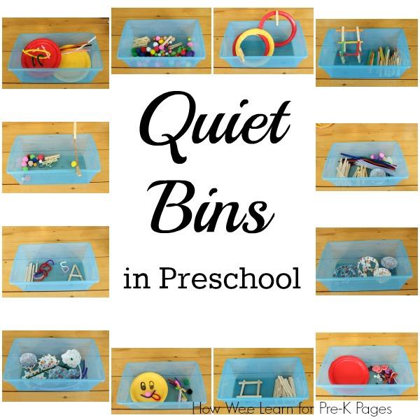 quiet bins prek
