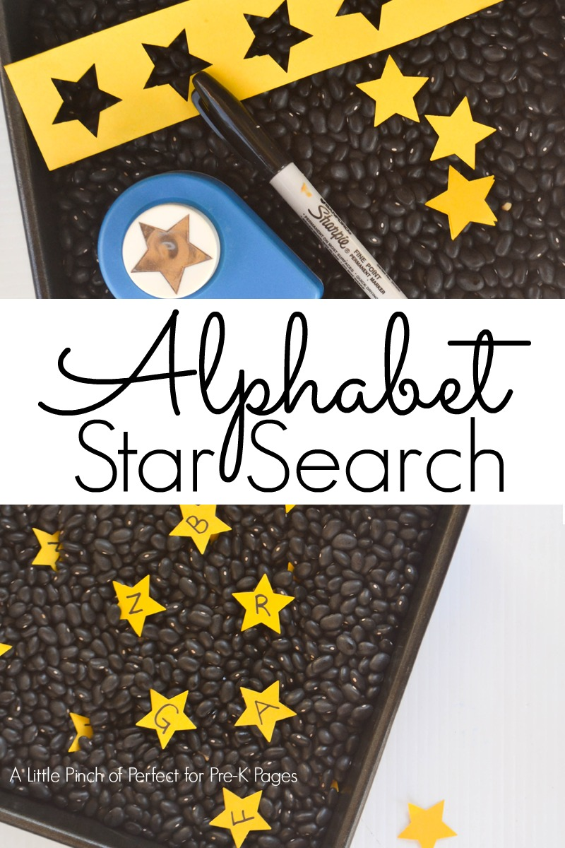 alphabet star search sensory play preschool