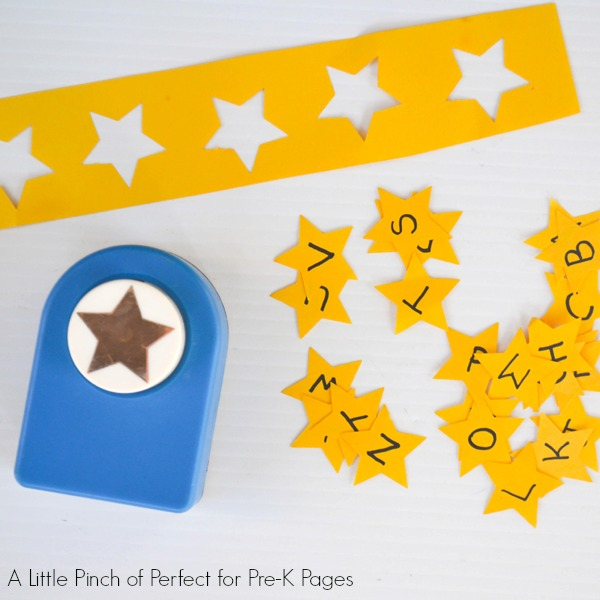 alphabet letters stars punched out