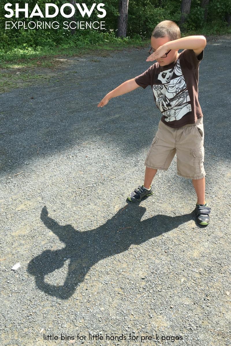 body shadows science for preschool