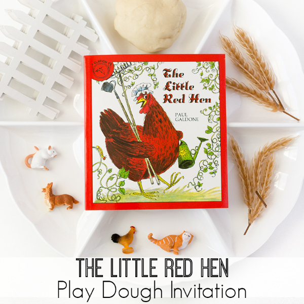 little red hen play dough activity