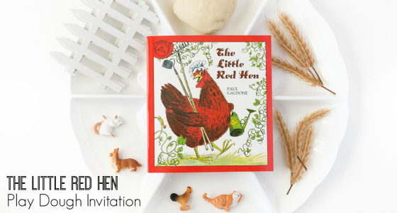 little red hen play dough fall