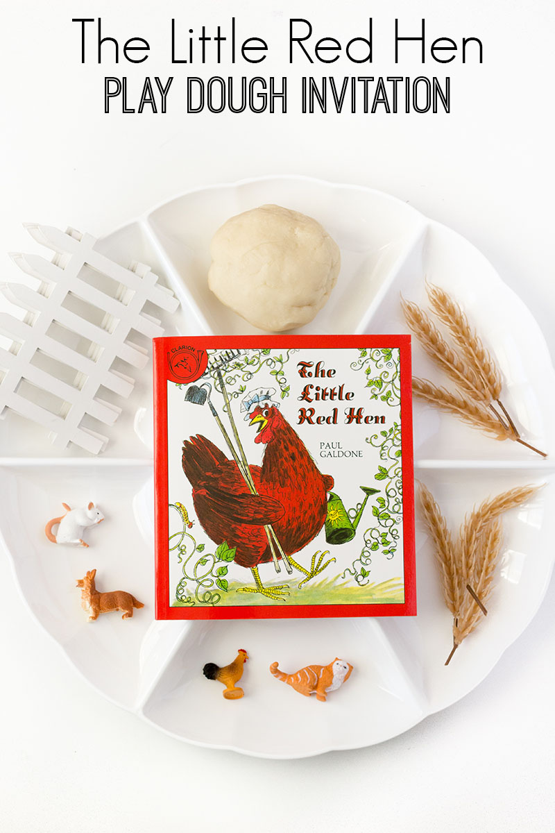 little red hen play dough invitation preschool