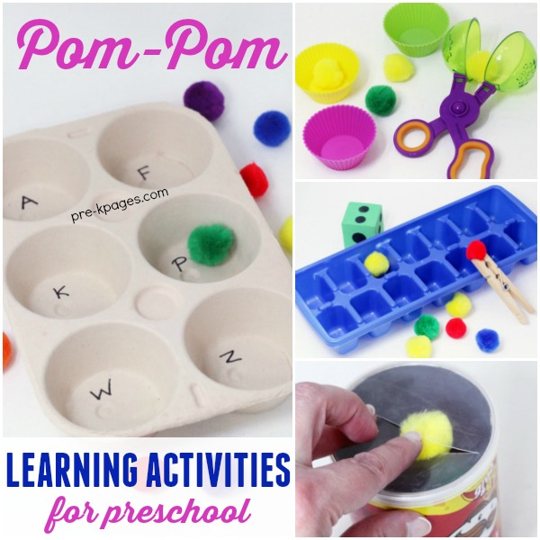 Pom Pom Learning Activities for Preschool