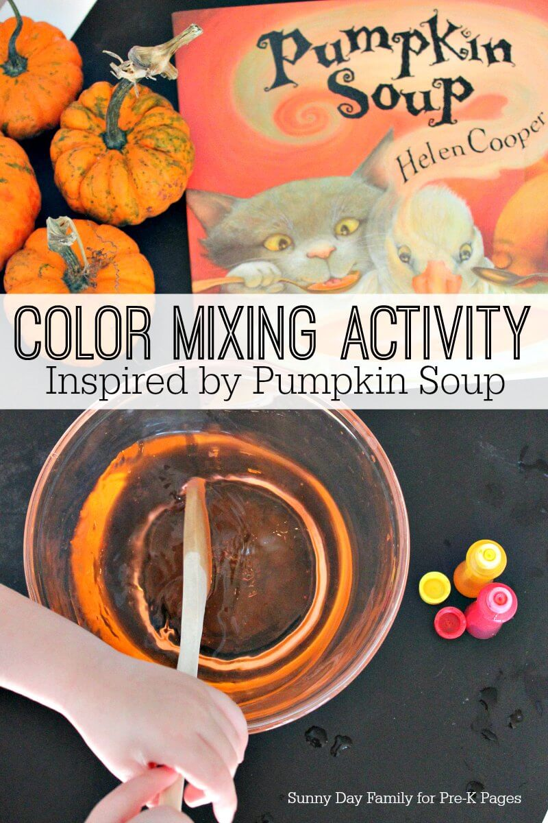 pumpkin soup book activity for preschool