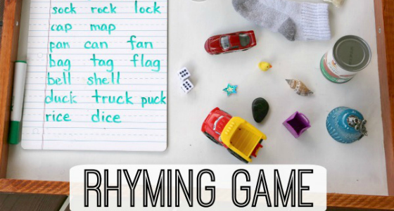 Words That Rhyme With: A Fun Preschool Game