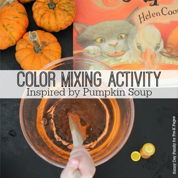 pumpkin soup book activity pre-k