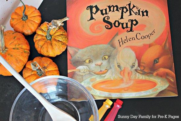 pumpkin soup color mixing kindergarten