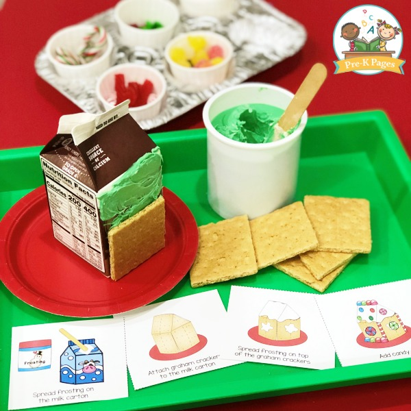 Gingerbread House Printable Picture Recipe Cards