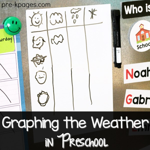 Graphing the Weather in Preschool