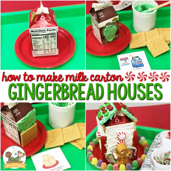 How to Make Gingerbread Houses in Preschool