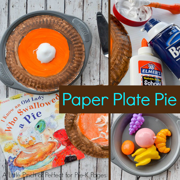 paper plate pie prek thanksgiving