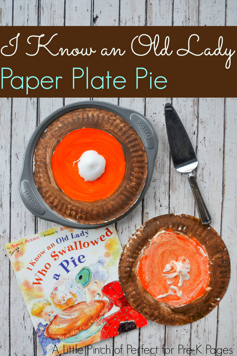 I know an old lady who swallowed a pie book activity