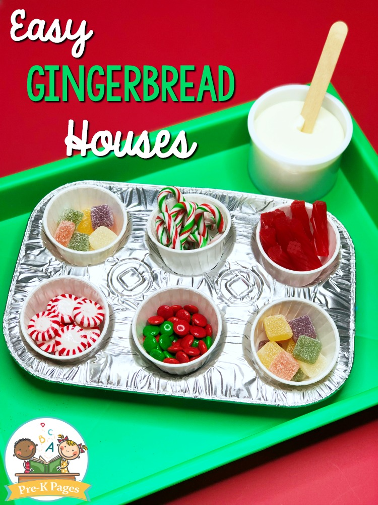 Making Gingerbread Houses in Preschool