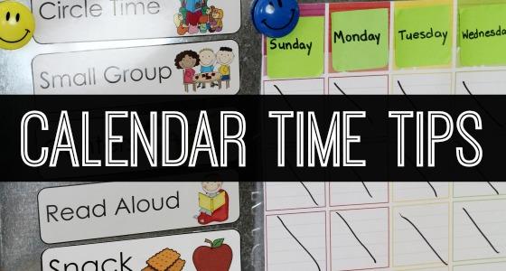 Calendar Time Tips for Pre-K Teachers