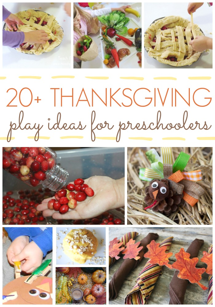 20 Thanksgiving Play Ideas for Preschoolers