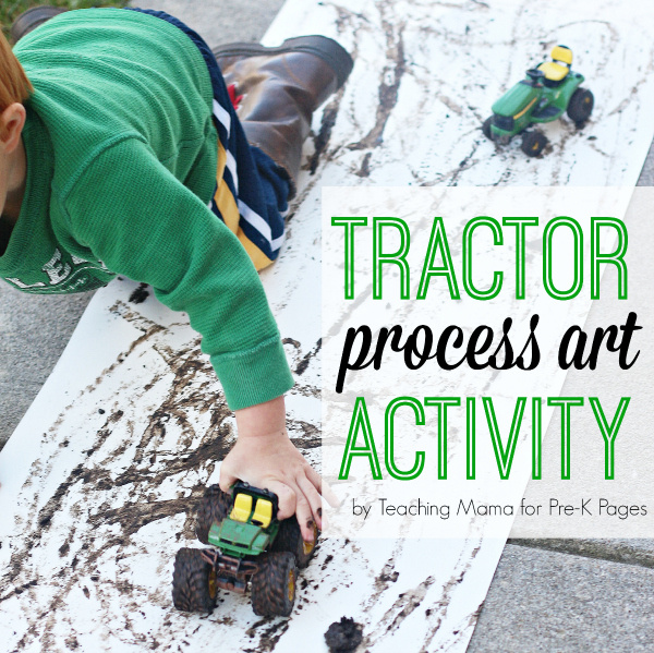 tractor mud painting farm harvest