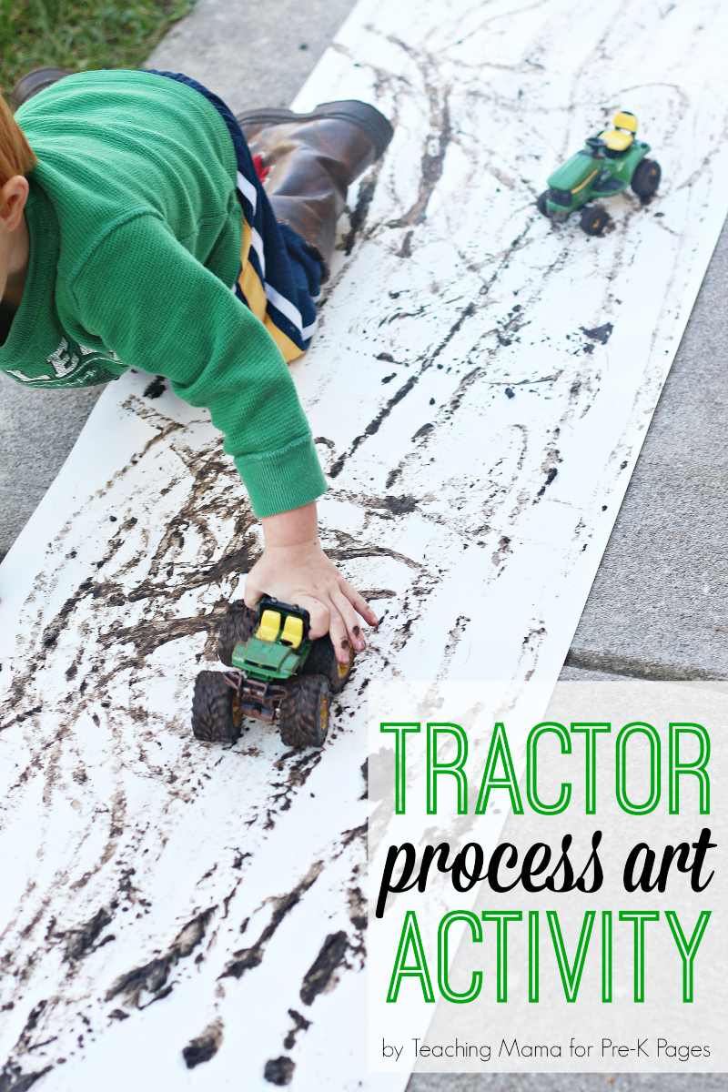 tractor process art project for preschool