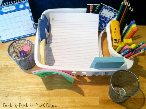 dollar store writing center kindergarten
